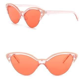 Steve Madden 58mm Novelty Cat Eye Sunglasses