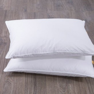 Pure Down Puredown Goose Feather and Down Bed Pillow, White, Set of 2,King Size