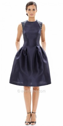 Carmen Marc Valvo Infusion Pleated Fitted Waist Cocktail Dress $298 thestylecure.com