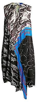 Balenciaga Women's Foulard Asymmetric Pleated Shift Dress