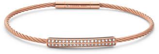 Fossil Bar Rose Gold-Tone Steel Bracelet