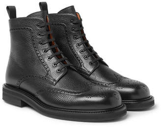 Mr P. Jacques Full-grain Leather Brogue Boots