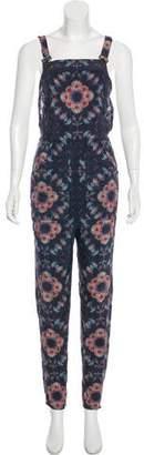Collina Strada Silk Floral Print Jumpsuit