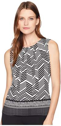 Calvin Klein Printed Pleat Neck Cami Women's Clothing