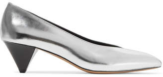 Isabel Marant - Poomi Metallic Leather Pumps - Silver $420 thestylecure.com