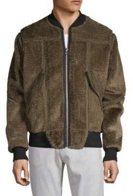 G Star Bonded Teddy Bomber Jacket