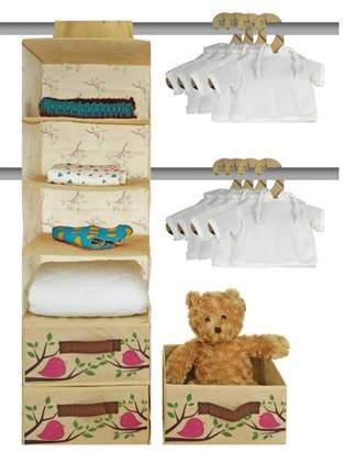 Venoly Nursery Closet Storage Organizer 20 Piece Set - Baby Closet Organization System - Hanging Storage for Nursery Essentials - Includes Collapsible storage Bins Hanging Shelf Mounting Studs