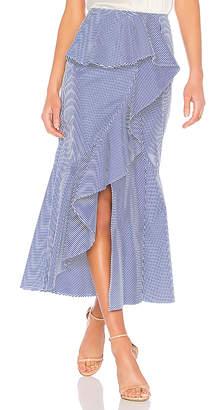 GOEN.J Striped Midi Skirt