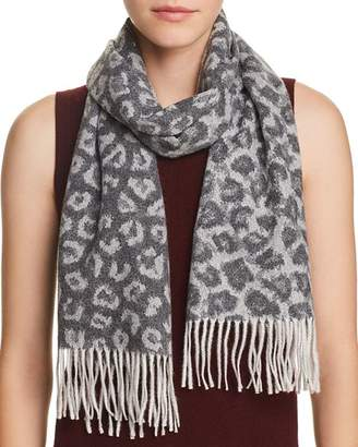 Bloomingdale's C by Leopard Cashmere Scarf - 100% Exclusive