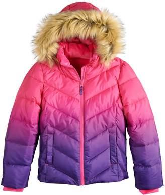 So Girls 4-16 SO Faux Fur Heavyweight Puffer Jacket