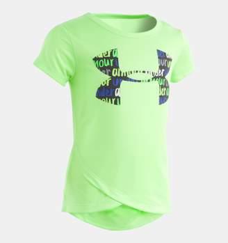 Under Armour Girls' Pre-School UA Big Logo Cross Over T-Shirt