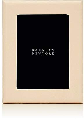 """Barneys New York Pebbled Leather 5"""" x 7"""" Picture Frame"""