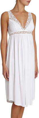 Eberjey Kiss the Bride Lace-Trim Nightgown