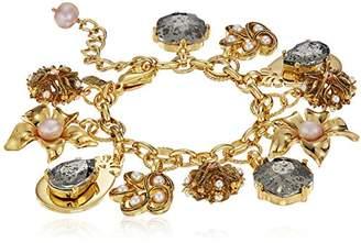 Badgley Mischka Floral Charm Bracelet