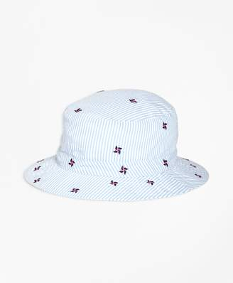 Brooks Brothers Pinwheel Seersucker Bucket Hat