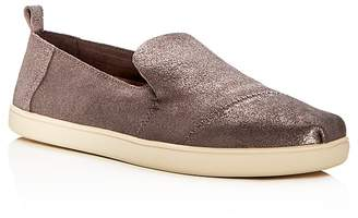Toms Women's Deconstructed Alpargata Leather Slip-On Flats