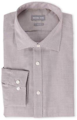 Michael Kors Sangria Micro Herringbone Slim Fit Shirt