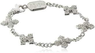 """King Baby Studio Cross"""" 3D Pave Cubic Zirconia MB Cross Bracelet"""