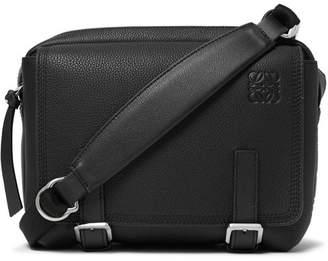 Loewe Military XS Full-Grain Leather Messenger Bag - Men - Black