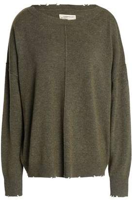 Current/Elliott Distressed Wool And Cashmere-Blend Sweater