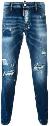 DSQUARED2 Sexy Twist distressed bleach jeans