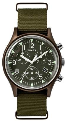 Timex R) MK1 Chronograph Nylon Strap Watch