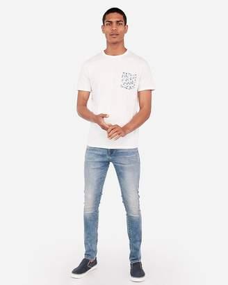 Express Slub Paisley Pocket Crew Neck T-Shirt