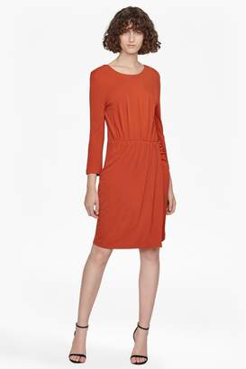 French Connenction Elsa Long Sleeved Draped Jersey Dress