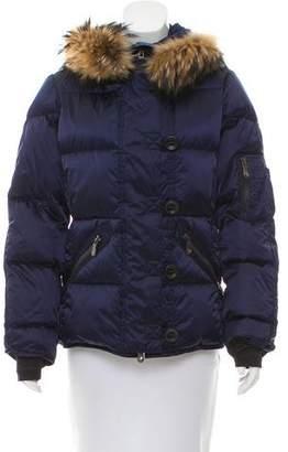 Jet Set Fur-Trimmed Puffer Jacket