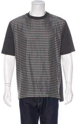 Lanvin Silk Geometric Print T-Shirt