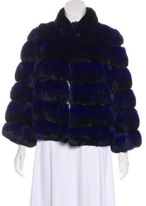 Carmen Marc Valvo Chinchilla & Lambskin Jacket