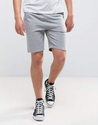 Asos Design DESIGN jersey skinny shorts in grey marl