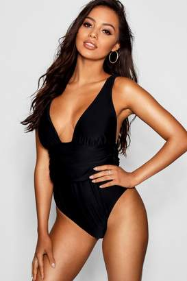 44a36ac21a47 boohoo Riomaggiore Fuller Bust Ruched Swimsuit