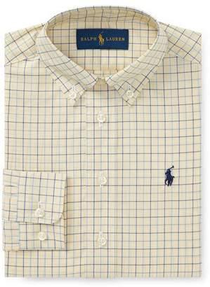 Ralph Lauren Poplin Tattersall Collared Dress Shirt, Size 4-7