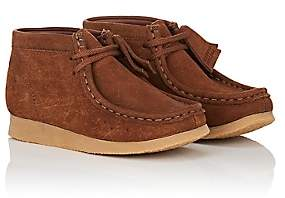 Clarks BNY Sole Series: Kids' Nubuck Wallabee Boots-Brown