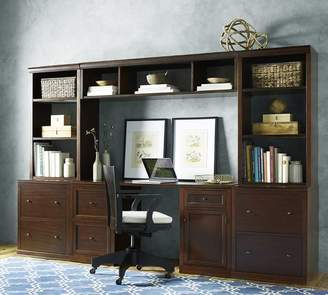 "Pottery Barn Small Office set (includes 1 desk, 2 24"" bases with doors, 2 24"" hutches with glass doors)"