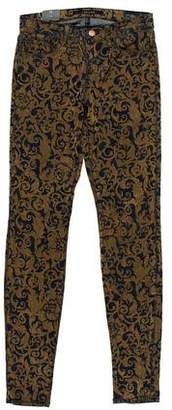 J Brand Mid-Rise Patterned Jeans w/ Tags