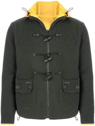 Bark drawstring neck reversible jacket