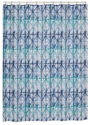 Creative Bath Blue Tones Shibori Shower Curtain