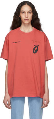 Off-White Off White Red and Black Splitted Arrows Over T-Shirt