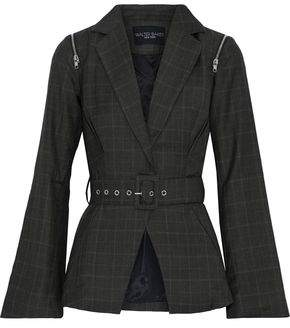 Walter W118 By Baker Elsa Belted Checked Woven Blazer