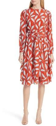Diane von Furstenberg Tie Waist Silk Dress