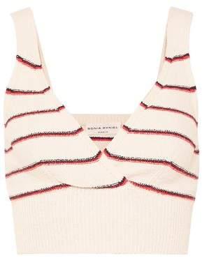Sonia Rykiel Cropped Striped Cotton-Blend Top