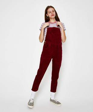 Insight Nelly Cord Dungaree Wine