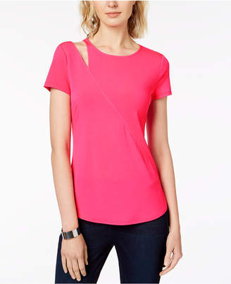 INC International Concepts I.n.c. Cutout-Shoulder T-Shirt, Created for Macy's