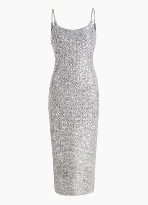 St. John Link Strap Sequin Knit Dress