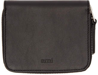 Ami Alexandre Mattiussi Black Leather Wallet