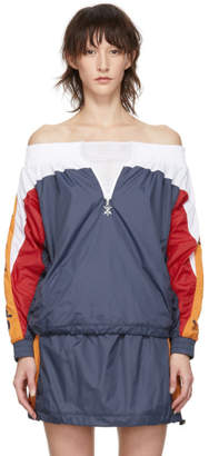 Opening Ceremony Navy Warm-Up Anorak Off-the-Shoulder Blouse