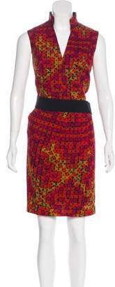 Akris Punto Print Sleeveless Dress
