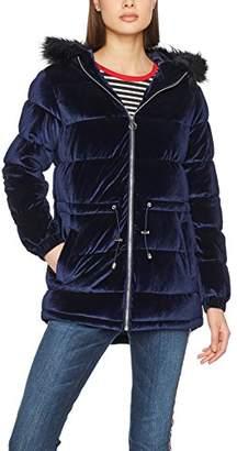 Dorothy Perkins Women's Midnight Velvet Puffa Jacket